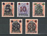 DR Danzig Rare WW1 Stamp 1922 Danzig Overprint Germania Service Classic Full Set