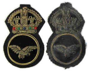 WW1 RAF Cap Badge RNAS WWI Royal Air Force Naval Air Service Senior NCO Hat