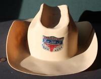 1766aa2815d 1964 Lyndon B.Johnson for President Campaign tan plastic cowboy hat 2-LBJ  Steer