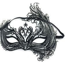 Elegant Black Luxury Metal Laser Cut Venetian Halloween Ball Masquerade Mask