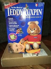 Teddy Ruxpin The Wonderful World Of Teddy Ruxpin Doll Never Removed From Box!New
