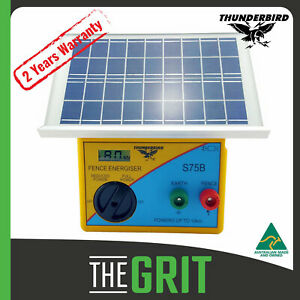Thunderbird S75B Solar Electric Fence Energiser 10km S75B Self Contained Unit