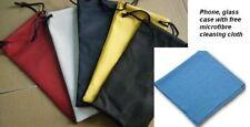 Brillen Tasche abwischen Putz- Textil Kordelzug Beutel Schoner Schutzhülle UK