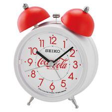 Seiko x  Coca Cola Twin Bell Quiet Sweep Snooze Light Alarm Clock QHK905W