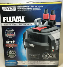 Fluval 107 Performance Canister Filter w/ Aquastop Valve A440 10-30 Gal 4401