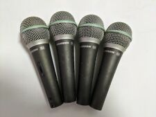 Lot of 4 Samson Q6 Dynamic Wired Xlr Supercardioid Microphone