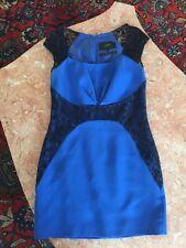 Women's Cobalt Blue WITH BLACK LACE CENIA NEW YORK Mini Dress SIZE 8