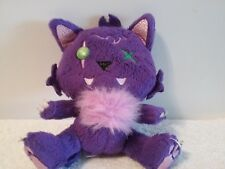 """Monster High Just Play Crescent Clawdeen Wolf Pet Plush Purple Kitty Goth Cat 6"""""""