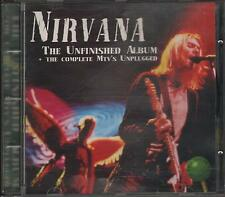 """NIRVANA - RARO CD ITALY ONLY 1994 """" THE UNFINISHED ALBUM + THE COMPLETE MTV """""""