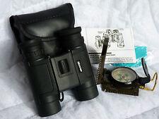 Brunton ECHO 10x25 Waterproof Binocular And Vivitar Military Style Compass Combo