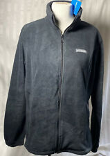 Columbia Womens Fleece Zip Up Black Jacket NWT Sz  XL