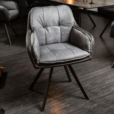 Drehbarer Design Stuhl MR. LOUNGER anthrazit grau Armlehne Esszimmerstuhl Retro