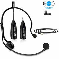 Wireless Microphones System, KIMAFUN 2.4G Wireless Microphone Headset and