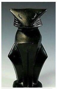 Art Deco Black Cat Doorstop cast iron Door Stop Cat Lover