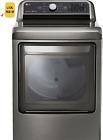 LG - DLG7301VE 7.3 Cu. Ft. Smart Gas Dryer with Sensor Dry - Graphite Steel photo