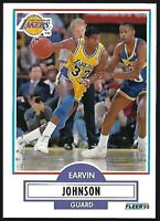 "EARVIN ""Magic"" JOHNSON 1990 FLEER Los Angeles Lakers #93"