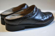Ariat Womens black leather slip on clog sandals size 7.5 B