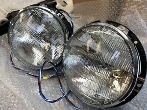 Pair of NOS Lucas Headlamps 59191- MG, Triumph, Austin Land Rover, Jensen, Mini