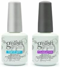 Harmony Gelish Top it Off Top Coat and Foundation Base Coat .5 oz.
