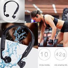 Bluetooth 4.1 Stereo Wireless Bone Conduction Headset Headphones Sports Fitness