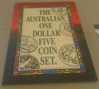 THE AUSTRALIAN ONE DOLLAR FIVE COIN SET Mintage:16,702