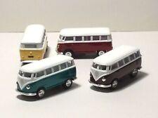 KINSMART MINIATURE Set 4 1962 Volkswagen Classical Bus  DIE CAST