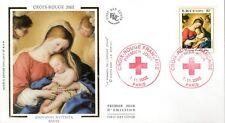 3531-+ FDC  ENVELOPPE 1er JOUR  SUR  SOIE  CROIX ROUGE 2002