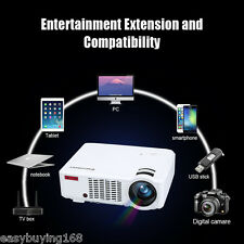 3D 1080P 4500Lumens LED Projector Home Theater Cinema for Iphone Android Tablet