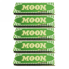 """5×50 sheets 70mm 1.0"""" Moon Green Hemp Cigarette Tobacco Rolling Papers"""