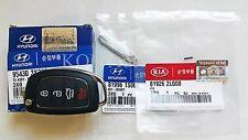 Genuine Hyundai Remote Key Folding Key Set 2014 - 2016 Hyundai Elantra MD