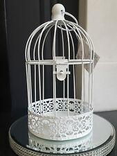 Pacchetto di 8 bianche matrimonio shabby chic CUCCE Centro Pezzo Bird Cage