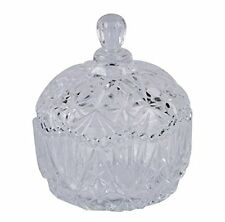 Qianli Pineapple Shape Crystal Effect Design Glass Sugar Serving Bowl with Lid