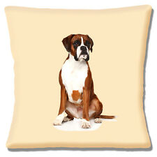 """NEW YOUNG BOXER PUPPY DOG TAN WHITE BLACK PHOTO PRINT 16"""" Pillow Cushion Cover"""