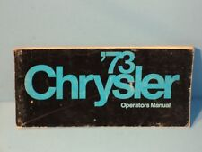 73 1973 Chrysler owners manual
