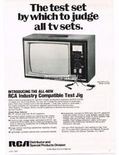 1975 RCA 10J106 Television Test Jig Repair Service Equipment Vtg Print Ad