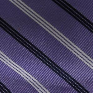 Bow Tie Men Silk PURPLE Stripes SELF TIE Bowtie