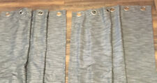 "2 Threshold Textured Gray Curtains 4 Panels 54"" x 84"" Light Blocking Grommet Top"