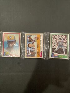 1981 Topps Baseball Rack Tim Raines Rc Showing On Front , Dave Winfield On Back