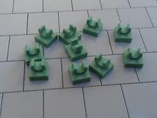 Nouveau LEGO - 25 X Sable Vert 1x1 Tile Modified Clip 15712-Bords arrondis -