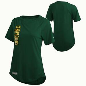 New Era NFL Women's Green Bay Packers Shrug Off Performance Tee, Green