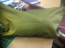 "Set Of 2 Green Faux Silk With A Dark Sheen 20x11"" Cushion Covers 145/138"