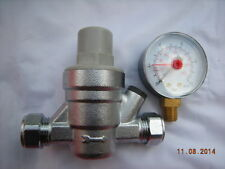 Universal 15MM Water Pressure Reducing Valve With 10 Bar Pressure Gauge