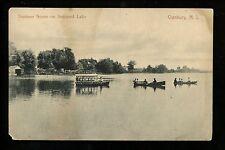 Cranbury, New Jersey NJ Vintage postcard Summer Scene on Brainerd Lake