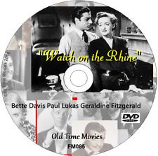 Watch on the Rhine - Bette Davis Paul Lukas Geraldine Fitzgerald  DVD 1943