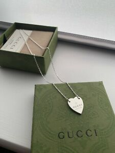 Brand New In Box Gucci Necklace with Heart Pendant