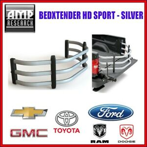 AMP Research BedXTender HD Sport Silver For Chevy GMC Dodge Ram Ford Toyota
