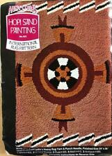 Hopi Sand Painting~Cotton Rug Foundation canvas~Aunt Lydia's~punch needle~24x36