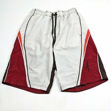 Speedo Mens M Swim Trunks Shorts Swimming Mesh Lined White Multi Color