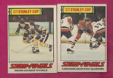 1977-78 OPC CANADIENS + BRUINS STANLEY CUP EX-MT CARD (INV#4646)