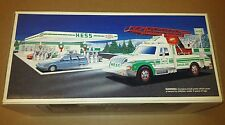 1994 HESS RESCUE FIRE TRUCK WITH SIREN HORN & BACK-UP ALERT NEW IN THE BOX
